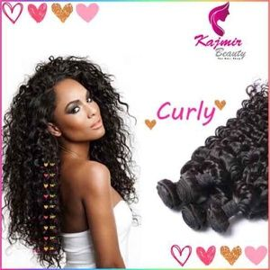 """12"""" Inch Natural Curly Virgin Remy Human Hair"""